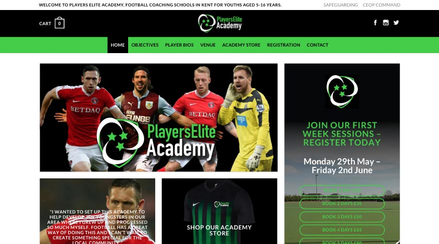 MTTS Design & Solutions for Web, Branding & Communications. Players Elite Academy Project.