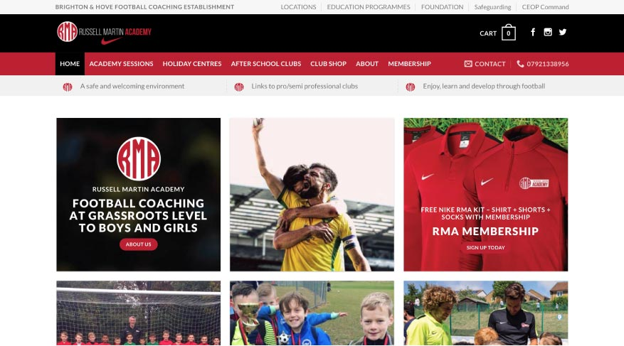 MTTS Design & Solutions for Web, Branding & Communications. Russell Martin Academy Project.